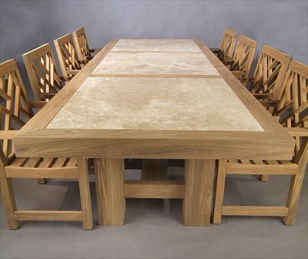 Custom Limestone Dining Table DHDA