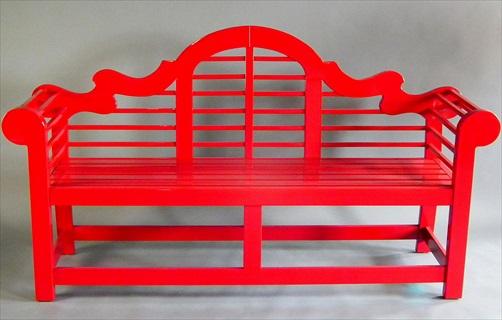 Awesome Lutyens Bench Custom Red 78
